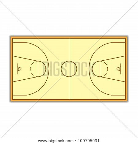 A Field For Basketball Vector Illustration.