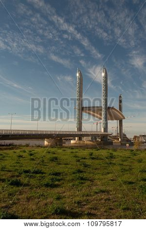 The New Chaban-delmas Highest Vertical Lift Bridge In Europe,