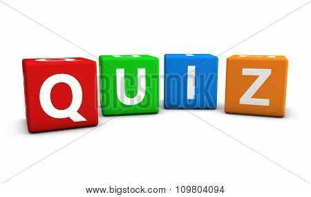 Quiz Word Colorful Cubes