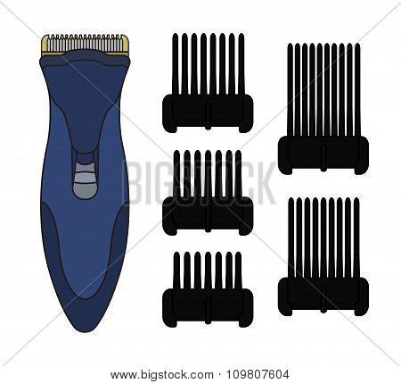 Hair clipper machine. Color