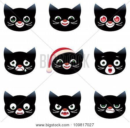 Cartoon Vector Smilies Cats