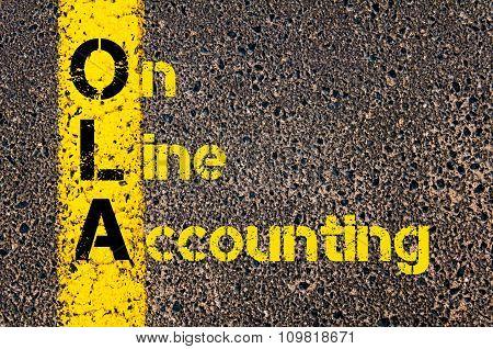 Accounting Business Acronym Ola On Line Accounting