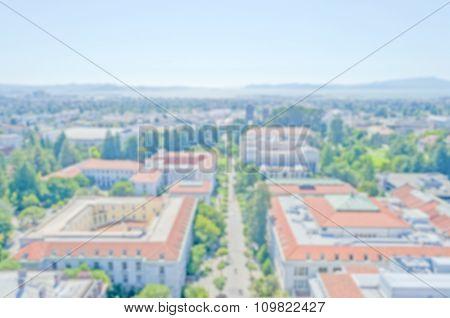 Defocused Background With University Of California, Berkeley