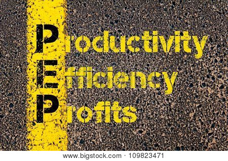 Accounting Business Acronym Pep Productivity Efficiency And Profits