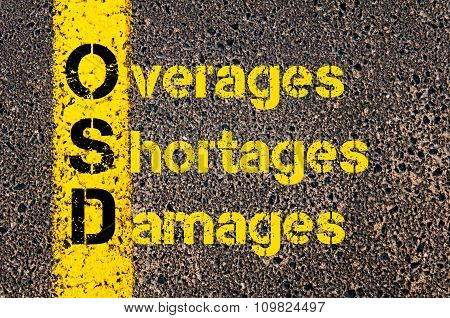 Accounting Business Acronym Osd Overages, Shortages, And Damages