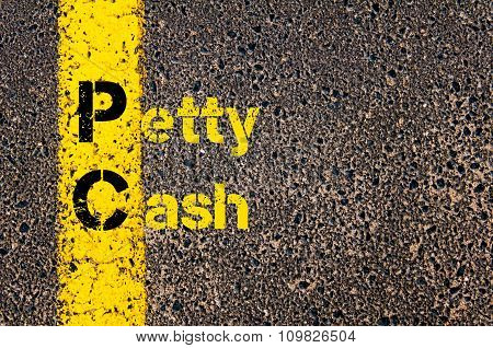 Accounting Business Acronym Pc Petty Cash