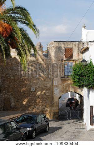 Castle wall and arch, Vejer de la Frontera.