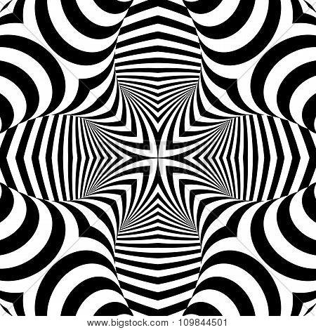 Design Symmetric Monochrome Illusion Background