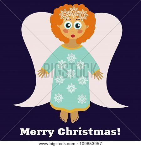 Christmas angel cartoon character