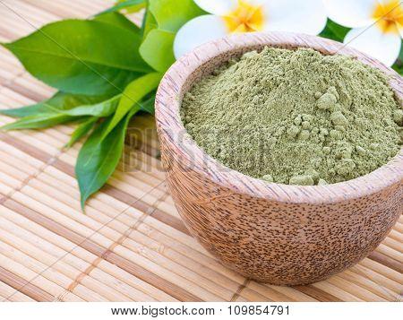 Henna Powder And Tiare Flowers