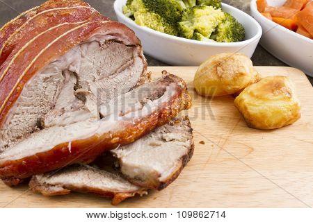 A joint of pork leg