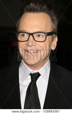 LOS ANGELES - FEB 15:  Tom Arnold at the Make-Up Artists And Hair Stylists Guild Awards 2014 at the Paramount Theater on February 15, 2014 in Los Angeles, CA