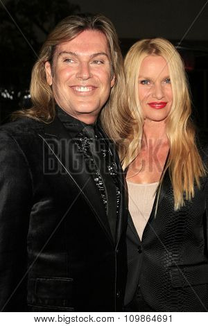 LOS ANGELES - FEB 15:  Shawn Finch, Nicollette Sheridan at the Make-Up Artists And Hair Stylists Guild Awards 2014 at the Paramount Theater on February 15, 2014 in Los Angeles, CA
