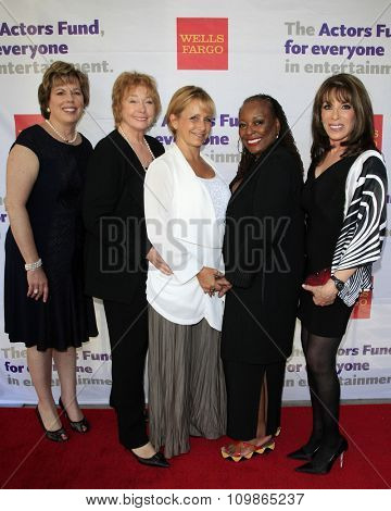 LOS ANGELES - JUN 8: Illyanne Morden Kichaven, Jenny O'Hara, Gabrielle Carteris, LScott Caldwell, Kate Linder at the Tony Award Viewing Party at the Taglyan Complex  on June 8, 2014 in Los Angeles, CA