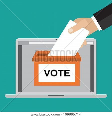 Voting online concept.