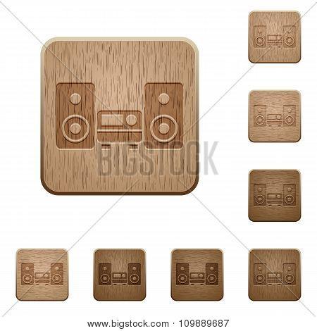 Hifi Wooden Buttons