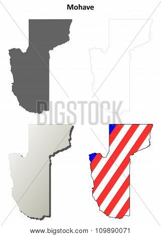 Mohave County, Arizona outline map set