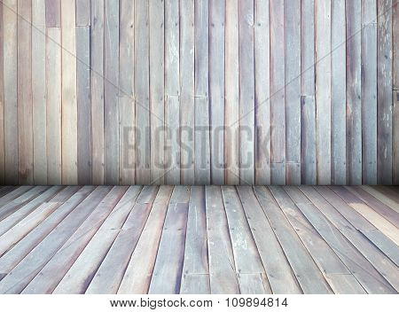 Interior Of Wooden House Texture Background Wall, Perspective.