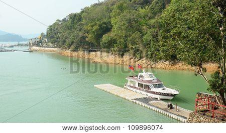 Tourist Boats On Sun Moon Lake