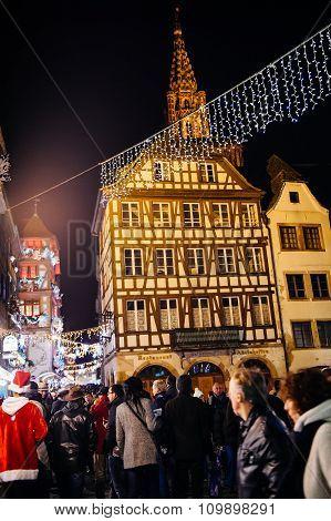 Place Du Marche Aux Cochons De Lait During Christmas Market