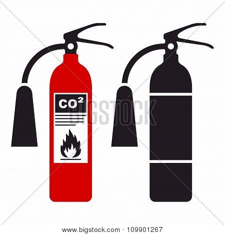 Fire extinguisher icon set