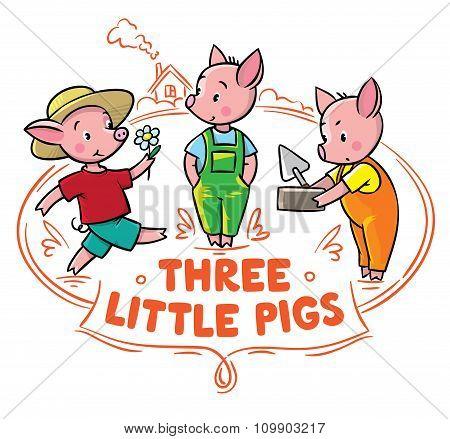 Little piglets from fairy tale