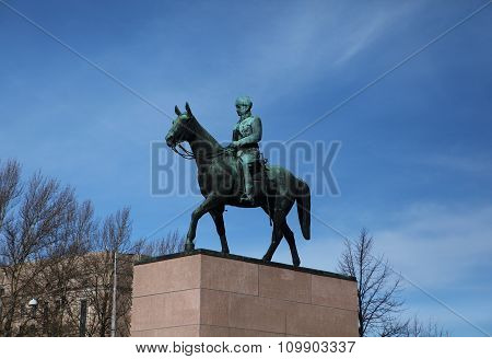 Monument to Marshal of Finland, Baron Mannerheim in Helsinki.