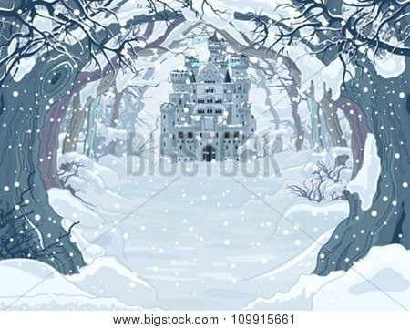 Magic Fairy Tale Winter Princess Castle