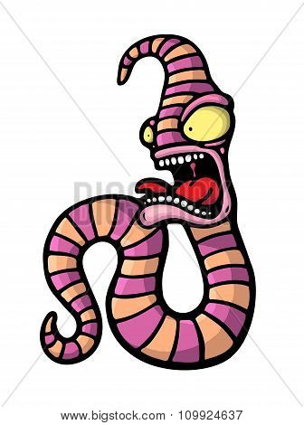 Painted Crazy Worm