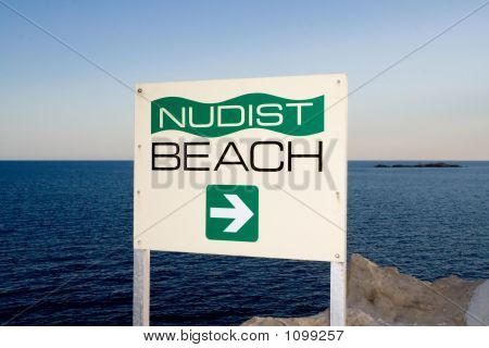 Nudist Beach Sign