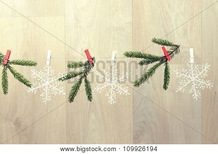 Creating Christmas Decoration Indoor