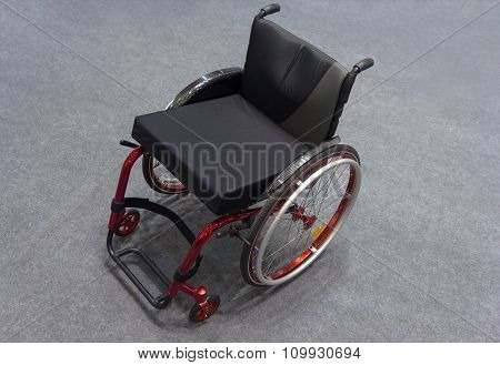 Wheelchair Close-up View From Above. Medical Equipment