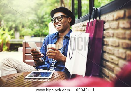 Shopping Men Man Happiness Consumer  Commerce Concept