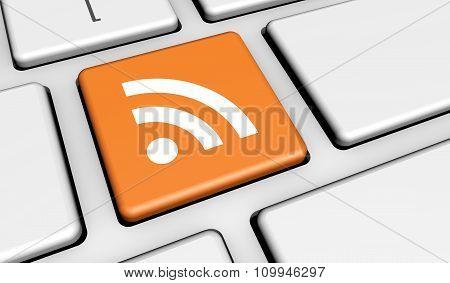 Rss Web Internet News Button