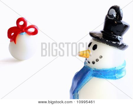 Plastic Snowman And Gift