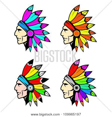 Vector Chieftain head illustration