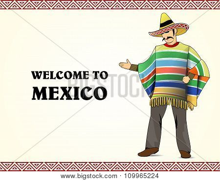 Vector Mexican Men Costume Character
