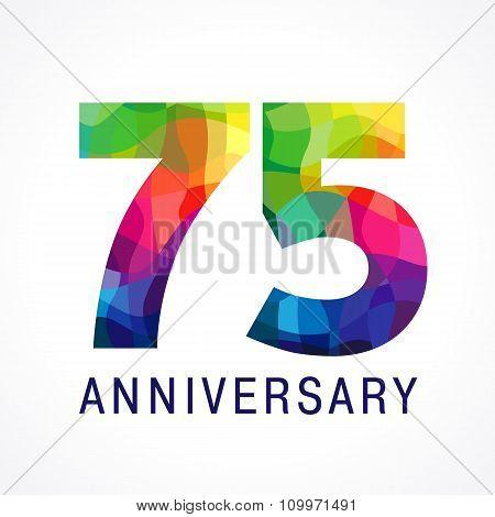 75 anniversary colored logo.
