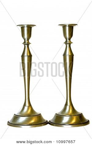 Two Candlestick Isolated On White Background