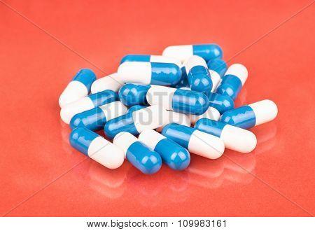 White Blue Capsule