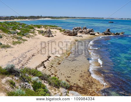 Secluded Beach at Point Peron, Western Australia