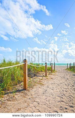 Beach path in Miami BEach Florida