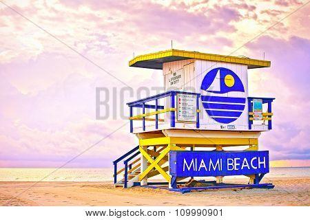Sunrise in Miami Beach Florida