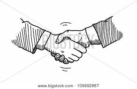 Shaking Hands Doodle