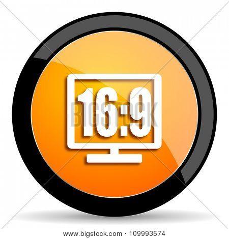 16 9 display orange icon
