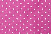 Beautiful Pink and white dots fabric background poster