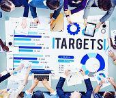 Target Achievement Goal Success Aspiration Concept poster