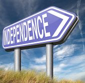 independence self sufficient or self employed independent life for the elderly disabled or young people  poster