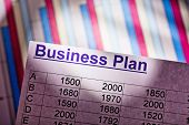 a business plan to start a business. ideas and strategies for self-employment. poster