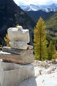 Marble Tower in the mountains in autumn poster